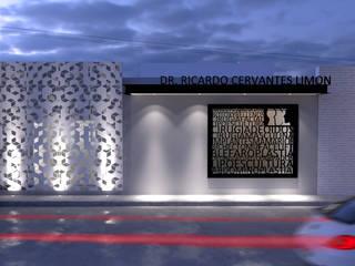 Fachada principal: Estudios y oficinas de estilo moderno por GAX Estudio de Arquitectura