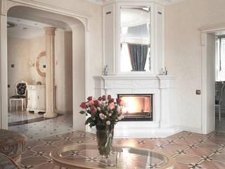 Гостиная комната. Вид на мраморный камин.:  в . Автор – Андреевы.РФ