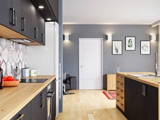 Intrygująca nowoczesność i minimalizm: styl , w kategorii Kuchnia zaprojektowany przez GLOBALO MAX