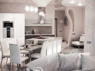 Вид на столовую зону гостиной:  в . Автор – Андреевы.РФ