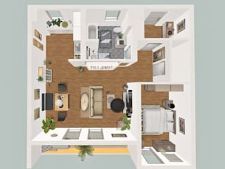 3D-Visualisierung und Rendering Innenraumansichten, 3D-Grundriss:   von NICE Homestaging
