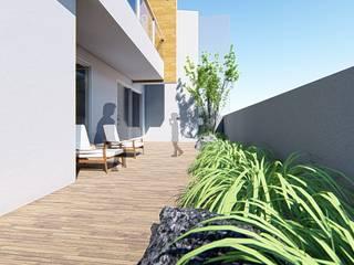 Minimalist balcony, veranda & terrace by 尋樸建築師事務所 Minimalist