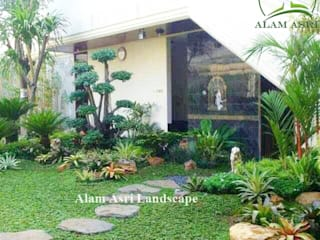 Taman Rumah Surabaya Alam Asri Landscape Taman batu Kayu Green