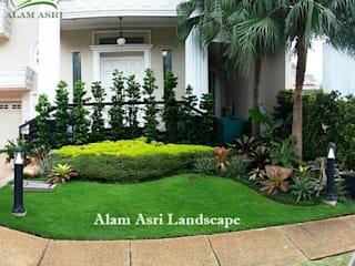 Taman Rumah Surabaya Alam Asri Landscape Taman Modern Batu Green