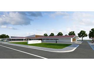 Casa da cultura das provincias da Huila - Angola:   por Triplinfinito arquitetura, design e vídeo Lda