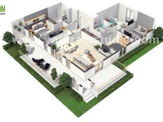 European 3D Home Floor Plan Design ideas by Yantram 3D Floor Plan Software, Paris - France Yantram Architectural Design Studio