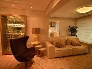 Apartamento CP: Salas de estar  por Kaza Estúdio de Arquitetura,Moderno