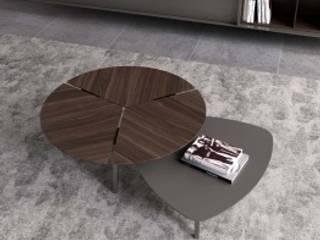 Mesa de apoio madeira e lacado: Salas de estar modernas por TEXTURAS INTERIORES, Design de Interiores, Lda