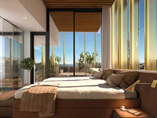 Diseño de apartamentos de lujo en Marbella: Dormitorios de estilo  de AVANTUM