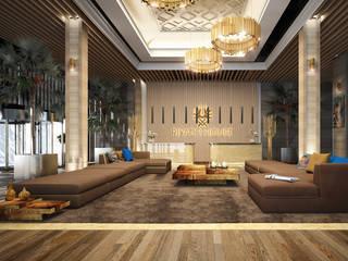 Diseño de apartamentos de lujo en Marbella: Salones de estilo  de AVANTUM
