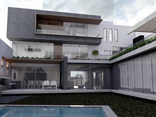 Construcción de casa en Ciudad de México - Casa Coz: Casas de campo de estilo  por GA Experimental