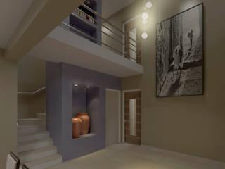 casa LILI-ADOLFO: Pasillos y recibidores de estilo  por MVQ ARQUITECTOS,Moderno