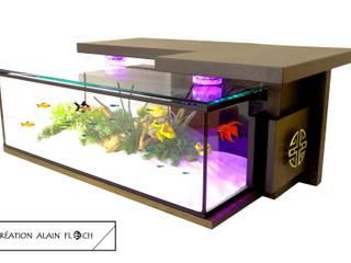 Table basse aquarium MONASTIK 20 LED 16 couleurs + télécommande:  de style  par VPA DESIGN