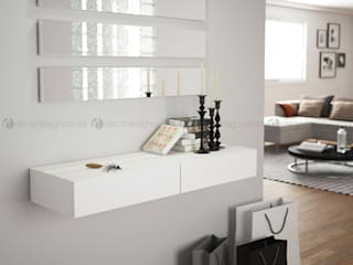 Decordesign Interiores Vestíbulos, pasillos y escalerasAccesorios y decoración Blanco