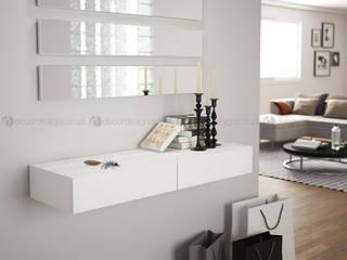 Decordesign Interiores Corridor, hallway & stairsAccessories & decoration White