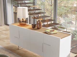 Um estilo moderno e intemporal!: Salas de jantar  por Casactiva Interiores