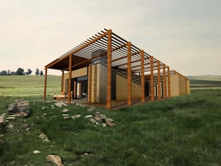 Morgenzon Lodge Rustic style house by Functional Form Architectural Studio Rustic