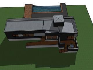 Vivienda Prefabricada en Panel Sip Casas de estilo mediterráneo de Riveros Bassaletti Arquitecto+asociados Mediterráneo