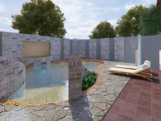 Casa Barajas: Albercas de jardín de estilo  por Arq. Alejandro Garza ,