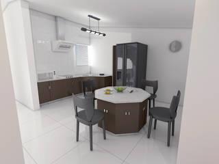 Remodelacion Cocina Desayunador: Cocinas equipadas de estilo  por Arq. Alejandro Garza