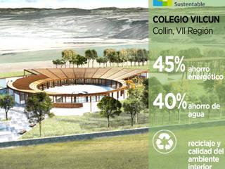 Colegio Vilcún Pasiva Casas estilo moderno: ideas, arquitectura e imágenes