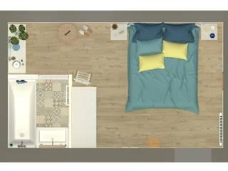 غرفة نوم تنفيذ MJ Intérieurs