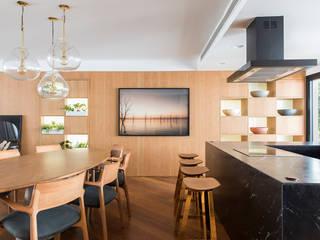 Apartamento CKO Salas de jantar modernas por DAVID ITO ARQUITETURA Moderno