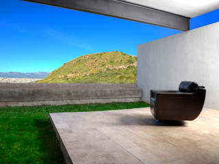 CASA LIBERTADORES: Jardines de estilo  por Garza Maya Arquitectos