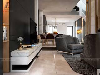 Nội Thất An Lộc Moderne Wohnzimmer Weiß