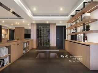 和室/鐵件/黑鏡/低調極簡的現代禪風 木博士團隊/動念室內設計制作 Modern Study Room and Home Office