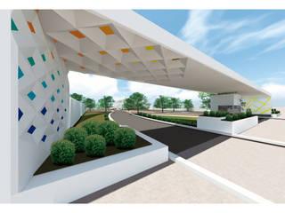 Salón de Usos Multiples de KBorges Arquitectos Moderno