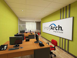 Office Project at Serpong - Tangerang: Kantor & toko oleh Simply Arch.,
