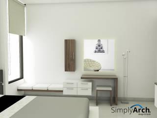 A-House Master Bedroom Furniture at Muara Karang, North Jakarta:  oleh Simply Arch.,