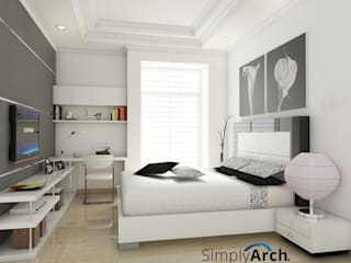 Bedroom at Pantai Indah Kapuk, North Jakarta: Kamar Tidur oleh Simply Arch.,