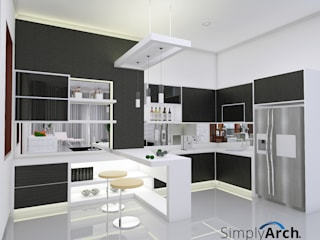 W-House at Pluit, North Jakarta: Dapur built in oleh Simply Arch.,