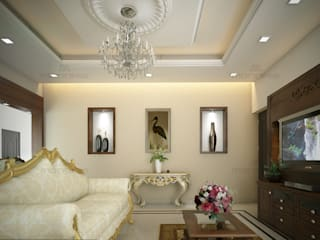 ​Luxurious Touch Classic style living room by Monnaie Architects & Interiors Classic