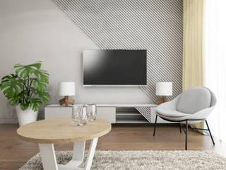 UTOO-Pracownia Architektury Wnętrz i Krajobrazu Moderne Wohnzimmer