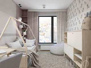 UTOO-Pracownia Architektury Wnętrz i Krajobrazu Skandinavische Kinderzimmer