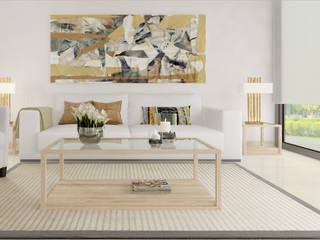 Salon clásico: Salones de estilo  de Taller de Interiores Mediterraneos
