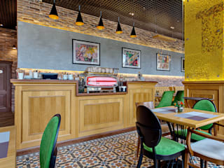 """Реализованный дизайн-проект кафе """"La Pasta"""" от Style Home Эклектичный"""