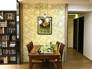 【住家】優雅沉穩的多元木質風格:  餐廳 by 圓方空間設計