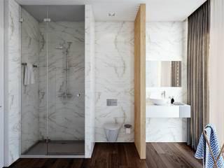 Moradia Unifamiliar  - Gondomar - Tipologia T3: Casas de banho  por EsboçoSigma, Lda