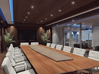 Sala de juntas: Estudios y oficinas de estilo industrial por TAR INTERIORES