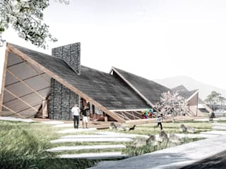 Finca Potrero: Casas de estilo  por All Arquitectura