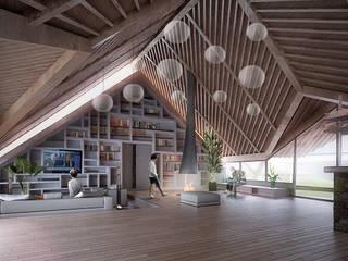 Finca Potrero: Salas de estilo  por All Arquitectura