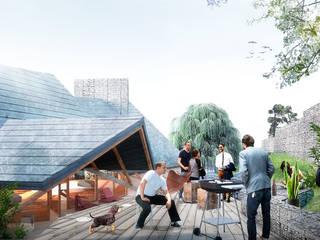 Finca Potrero: Terrazas de estilo  por All Arquitectura