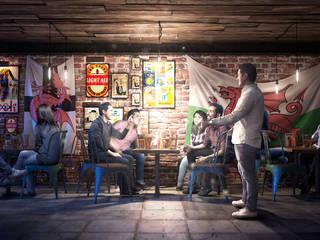 Drakonus Bar: Comedores de estilo  por All Arquitectura