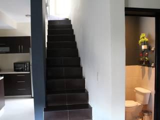 casa estrella: Escaleras de estilo  por nido arquitectos
