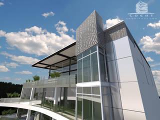 EDIFICIO CH: Edificios de Oficinas de estilo  por CREAT ARQUITECTURA