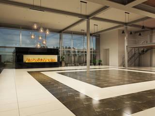 EDIFICIO CH: Salones para eventos de estilo  por CREAT ARQUITECTURA